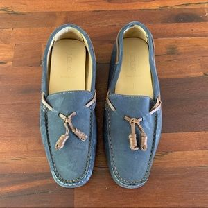 J.Crew navy leather driving moccasins 38